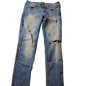 Hollister Super Skinny Jeans with Holes